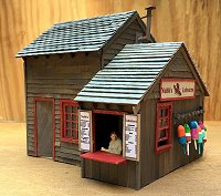 George Downer's O Scale lobster shed, cut almost entirely on a Cricut Explore.  Click to see the discussion forum.